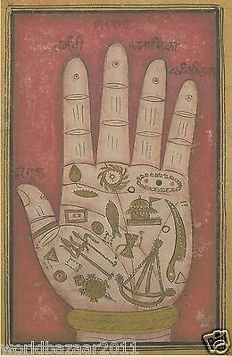 Palmistry Mounted Print Palm Reading Fortune Telling Carnival Clairvoyent Map