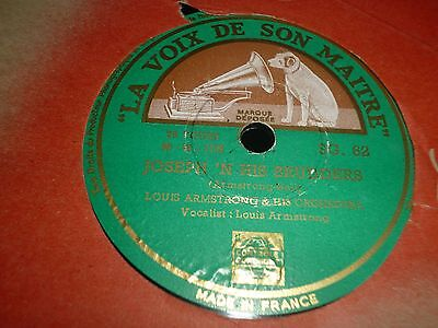 """Collection Lot of 4x LOUIS ARMSTRONG Jazz 10"""" 78RPM Gramophone Records 31/75"""