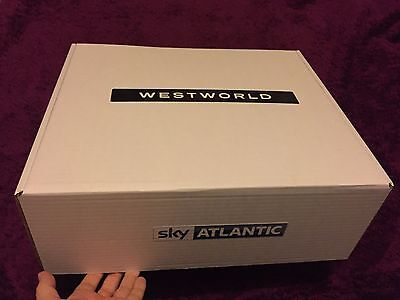 WESTWORLD TV series Amazing PRESS PROMO BOX Series One Hat Whiskey Whip Wallet