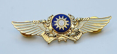 Chinese Army Aviation Flight Metal Badge Gold Insignia-33168