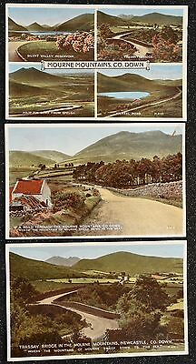 3 Postcards ~ Mourne Mountains Multiview ~ Trassey  ~ Carbo ~ Valentine's Series