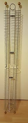 Very Tall Chrome CD DVD Rack Tower Storage wall mounted 2 sections