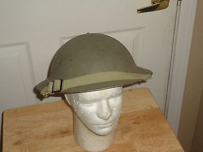 1944 WW 2 BRITISH Mk II HELMET WITH CHINSTRAP & 1943 LINER 7 1/4