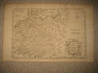 Superb Large Antique 1765 Empire Of Germany Copperplate Map Poland Bavaria Rare