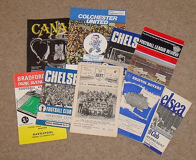 9 x 1950's 1960's 1970's Football Programmes – 1958 to 1979 – All listed