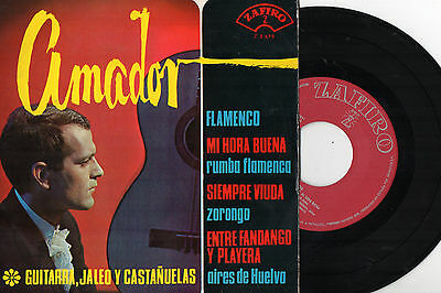 "AMADOR - Flamenco + 3, EP 7"" SPAIN 1965"