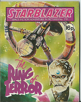 The Ring Of Terror,starblazer Space Fiction Adventure In Pictures,no.79,1982