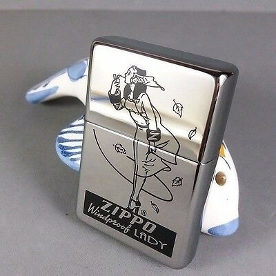 Zippo Windy Girl Lady Limited Edition Vintage Look Lighter in Box RARE NR