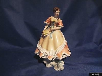 Rare Royal Worcester Victorian Ladies Figurine Penelope RW3643
