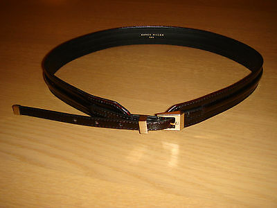 Ladies Karen Millen Dark Red Patent Waist Belt - Size 2 (10/12)
