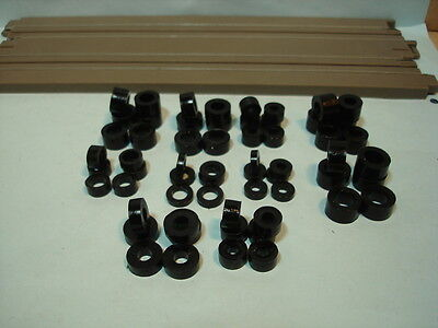 Bud's Tire Sampler Pack #1 30 Pr Of Silicone Black Tires Fits H.o. Scale Chassis
