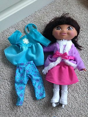 Dora the Explorer Ice Skating Doll with Dress Up Clothes