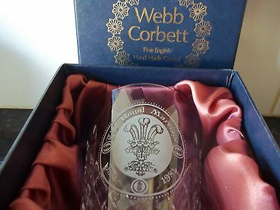 Webb Corbett Glass The Royal Marriage July 1981 New And Boxed
