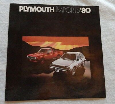 1980 Plymouth Imports Sales Brochure, Champ, Arrow, Sapporo by Mitsubishi