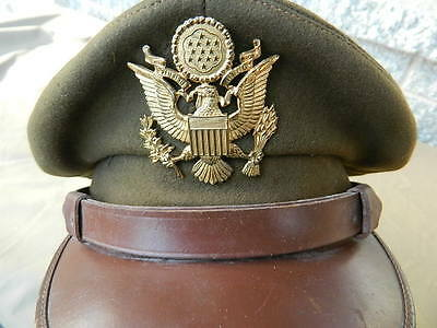 Ww2 Us Army Officers Od Private Purchase Crusher Style Visor Hat