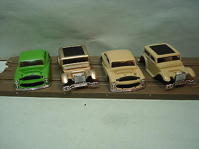 Ho Xtras Body Only Missing Motors Lot #8 - 2 1949 Hot Rod Coupe & 2 1932 Fords
