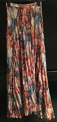 Amazing 1990s Vintage Sheer Floral Culottes Trousers Small