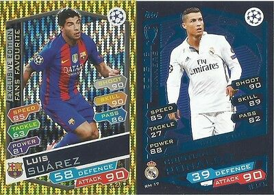 Match Attax Champions League 2017 Real Madrid And Exclusive Edition Cards Pick