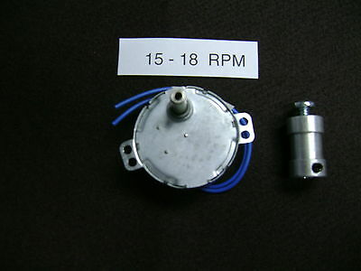 ** 220-240 ** volts:   15 -17  RPM Dryer-Drying Motor with  SHAFT COUPLER