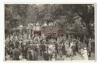 London ? Motor Buses on Parade Real Photo Vintage Postcard