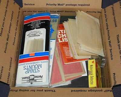 Box Stamp Supplies Pages Hinges StockBook Stock Pages Glassines Mounts More