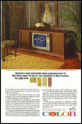 1966 vintage ad for RCA Color TV -169