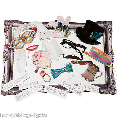 Deluxe Wedding Party Photo Booth Large Frame & 20 Props Anniversary Party