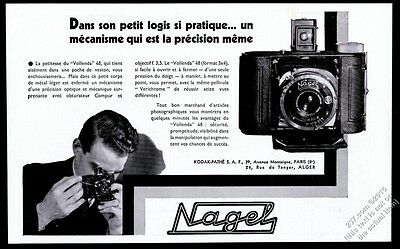 1933 Nagel Vollenda 48 camera photo French vintage print ad