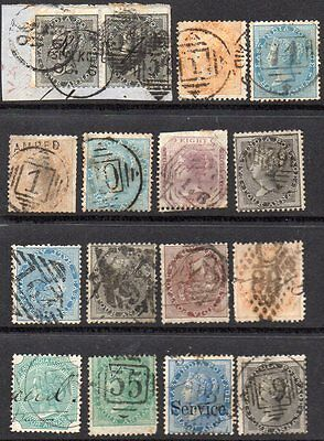 India Early  Q Victoria Numeral Cancels