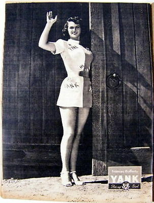 YANK The Army Weekly WWII October 12, 1945 Frances Rafferty Pin-Up