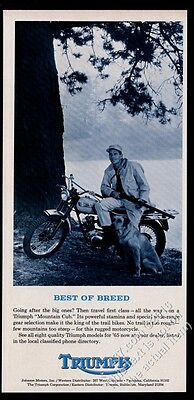 1965 Triumph Mountain Cub motorcycle photo vintage print ad