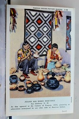 Indian Native American Pottery Makers Postcard Old Vintage Card View Standard PC