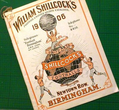 RARE 1906 complete SPORTSWEAR CATALOGUE William SHILLCOCKS football boxing rugby