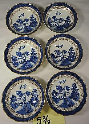 Booth's Real Old Willow - 6 Fruit * Berry Bowls * A8025 * Single Owner