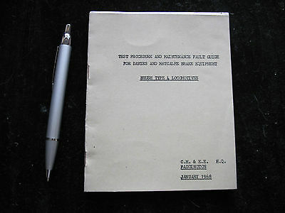 Br Wr Cmee Fitter Guide Brake Test  Procedure  Class 47 Brush Type 4 Locos 1968
