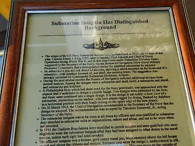 Set Of 4 Framed Us Navy Sub Forces Related Paper Items