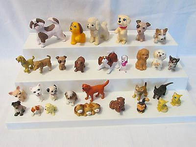 "30 Tiny/ Small Barbie & Others Doll Pets Dogs & Cats~1"" to 2 1/2"" Great Mix"