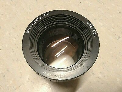Will-Wetzlar Maginon 1:3.5 200mm Vintage Projector Lens Adaptable