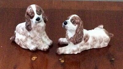Salt and pepper spaniels by Orchid Designs