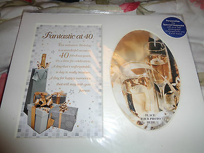 Fantastic At 40 Photo Picture Mount With Verse Gift Fits 8 X 10 Frame 40Th