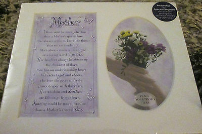 Mother Sentiment Verse Photo Picture Mount  Gift Fits 8 X 10 Frame