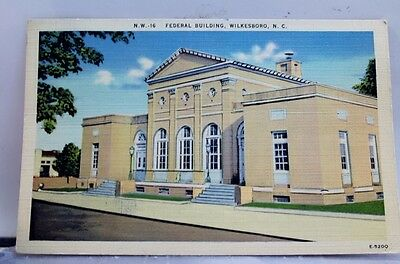 North Carolina NC Wilkesboro Federal Building Postcard Old Vintage Card View PC
