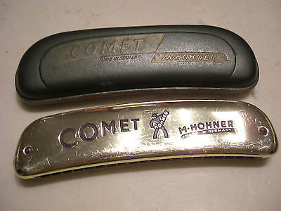 Ancien Harmonica M.hohner Comet /made In Germany / Instrument De Musique Vintage
