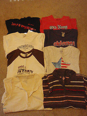 Lot 8 Womens Old Navy Spring Summer Tops Long Short Sleeve T-Shirts Polos Large
