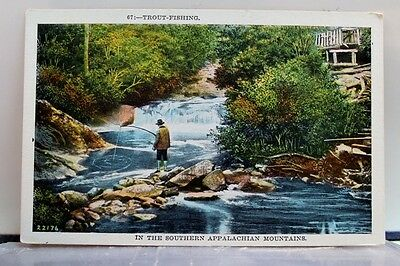 Scenic Trout Fishing Appalachian Mountains Postcard Old Vintage Card View Post
