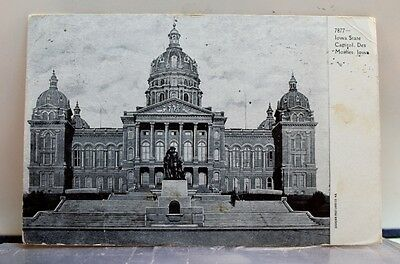 Iowa IA Des Moines State Capitol Postcard Old Vintage Card View Standard Post PC
