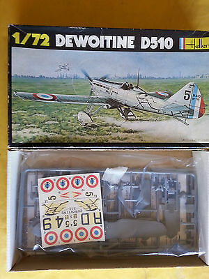 Dewoitine D-510 Frence fighter model kit by Heller in 1/72 scale
