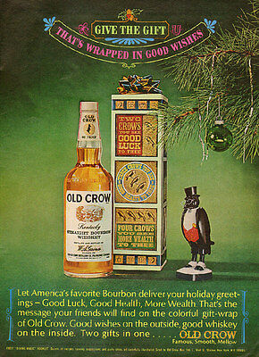 1969 vintage Christmas beverage AD OLD CROW BOURBON WHISKEY 052515
