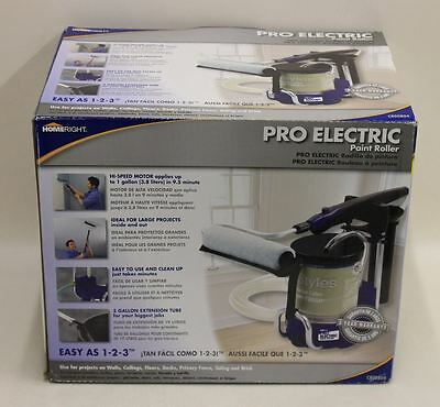 BNIB HOMERIGHT C800804 Pro Electric Paint Roller Flow Rate 1 GL Of Paint In 9-1