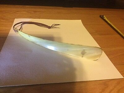 "VINTAGE SHOE HORN MARKED  MADE IN ENGLAND  CARVED 13"" Long!!"